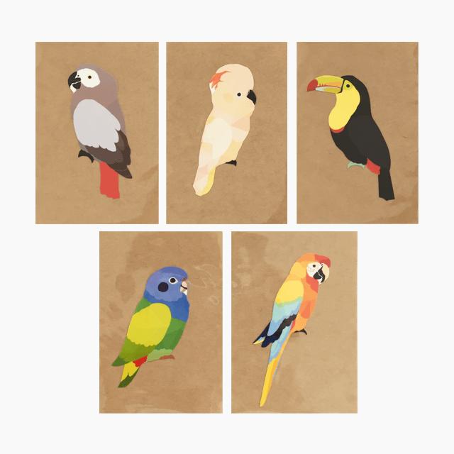 鳥デザインステッカー(LARGE BIRD)