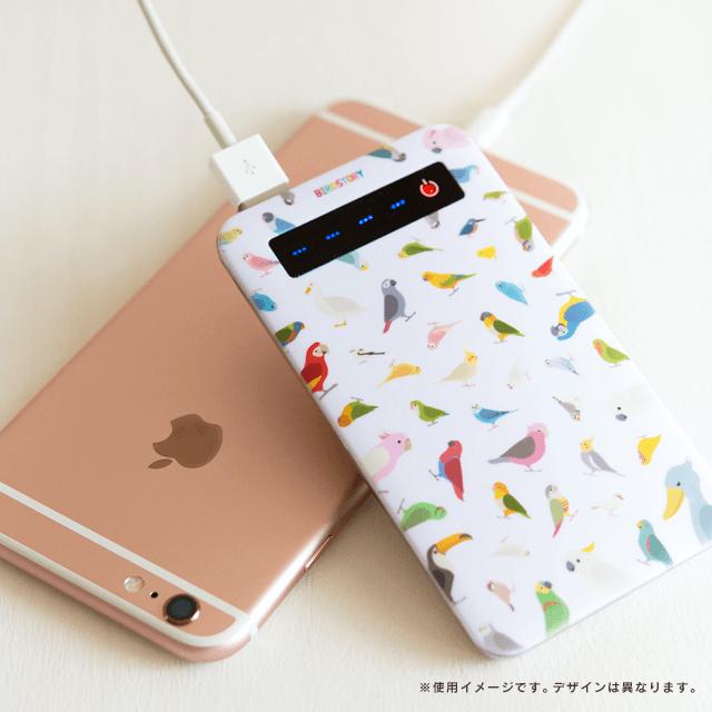 SMILE BIRD モバイルバッテリー(オカメインコ) 商品の様子