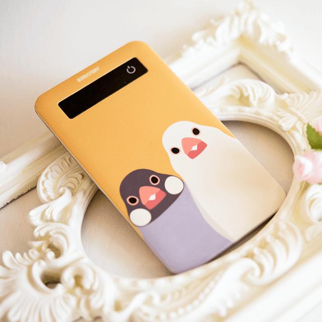 SMILE BIRD モバイルバッテリー(文鳥) 商品の様子
