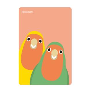 パスケース(SMILE BIRD / コザクラインコ)