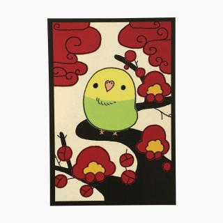 chitch 花札シリーズ(梅)ポストカード