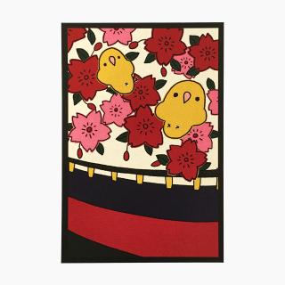 chitch 花札シリーズ(桜)ポストカード