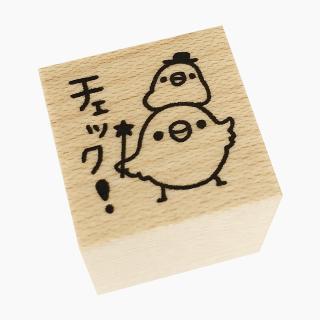 chitch スタンプ(文鳥 / チェック)