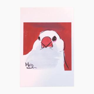 オクムラミチヨ 文鳥 ポストカード