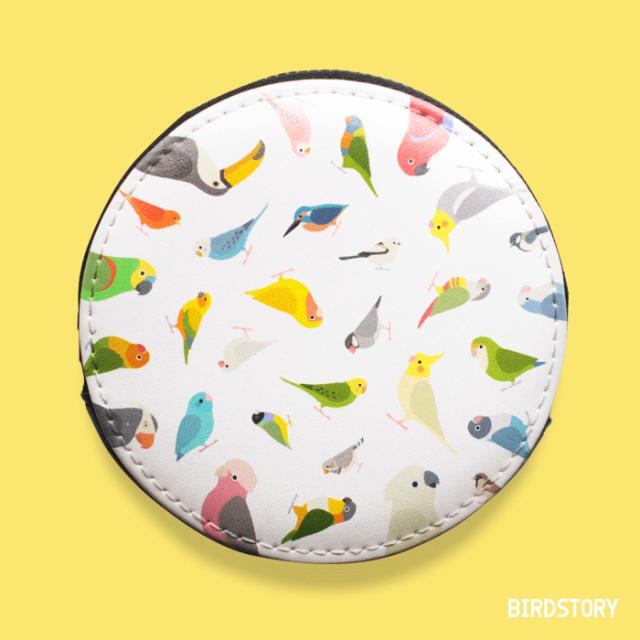 BIRD!BIRD!BIRD! コインケース(ホワイト)