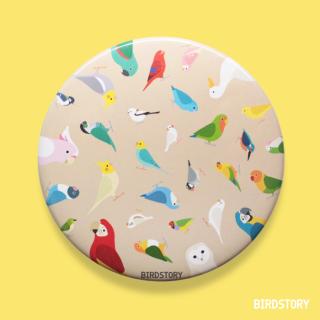 BIRD!BIRD!BIRD! 缶ミラー(ブラウン)