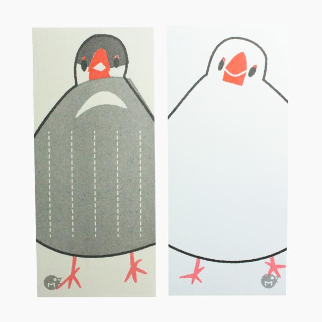 文鳥のつぶやき箋 商品の様子
