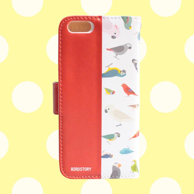 BIRD!BIRD!BIRD! 手帳型スマートフォンケース(レッド) 商品の様子