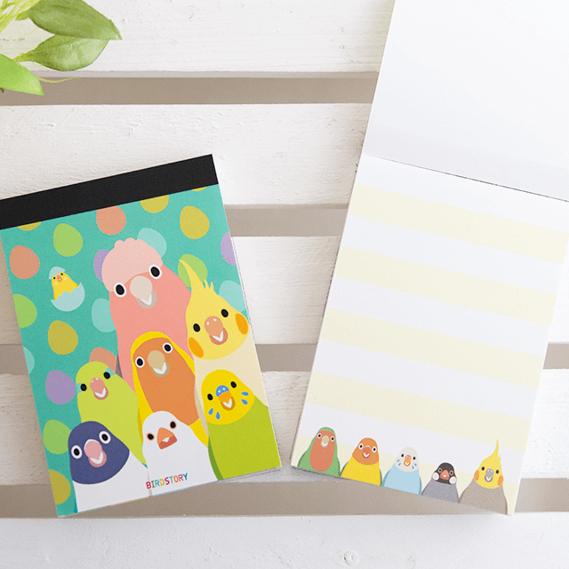 SMILE BIRD メモ帳 商品の様子