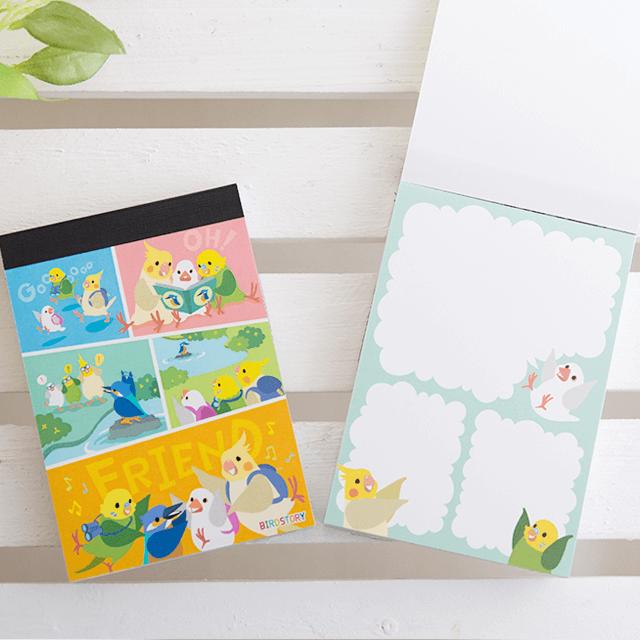 BIRD FREIEND -野鳥編- メモ帳 商品の様子