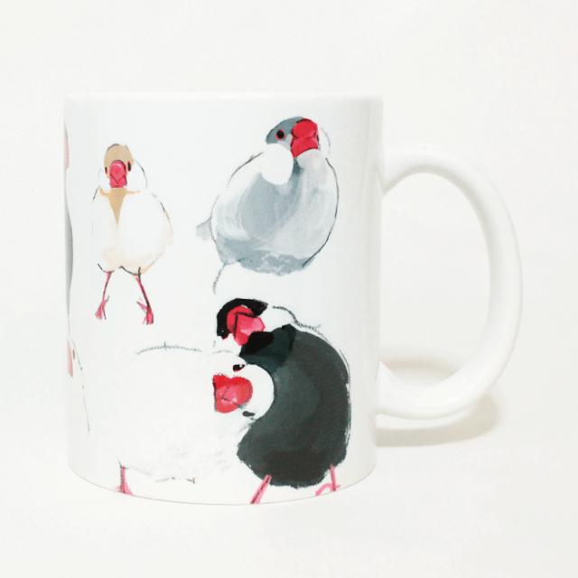 マグカップ(オクムラミチヨ / いろいろ文鳥)