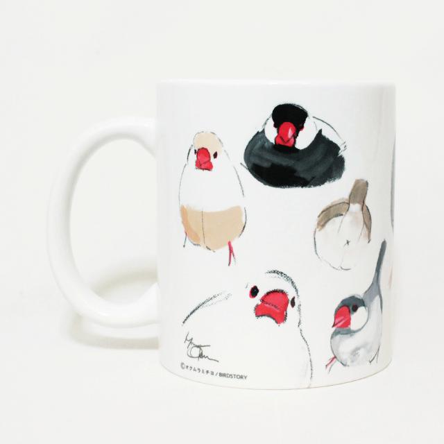 マグカップ(オクムラミチヨ / いろいろ文鳥) 商品の様子