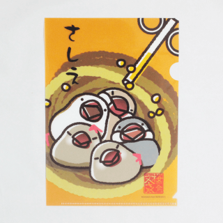 文鳥A5クリアファイル(さしえ)