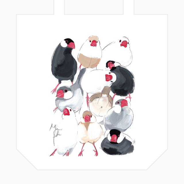 トートバッグ(文鳥) 商品の様子