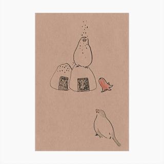 TONPESO ポストカード(ごま塩)
