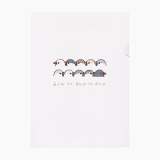 TONPESO ペーパーファイル(いろいろ文鳥)