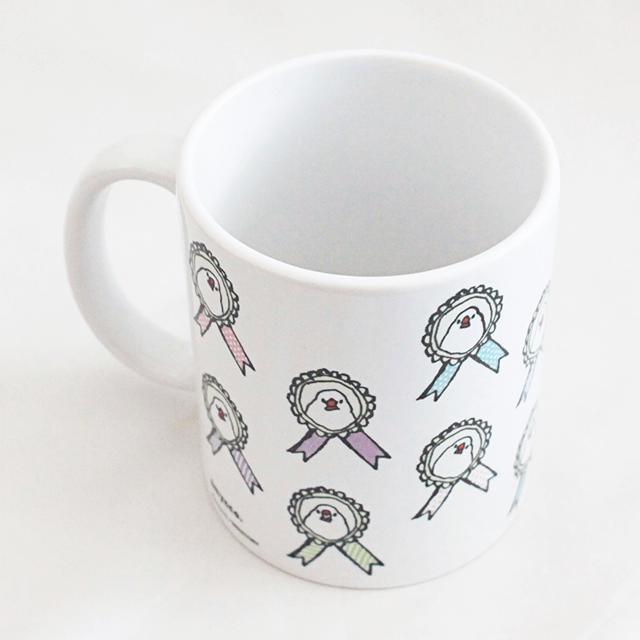マグカップ(amycco. / ロゼット文鳥ちゃん) 商品の様子