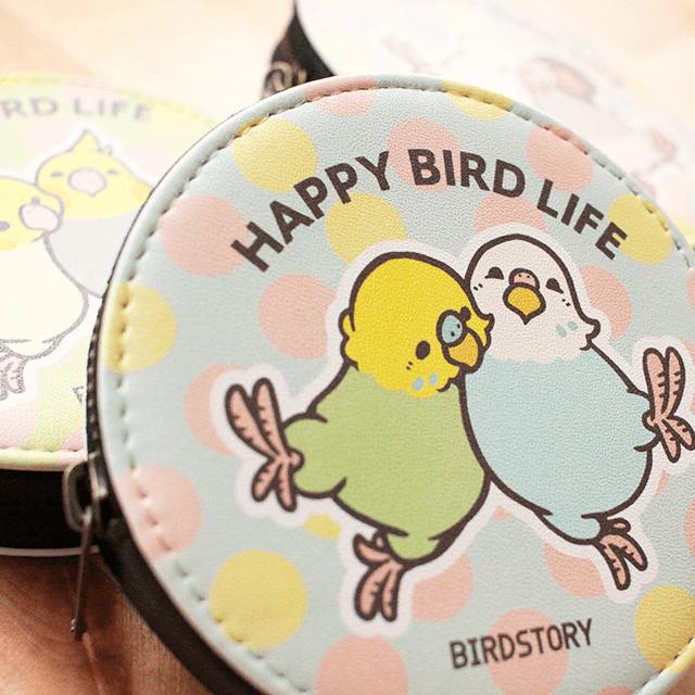 コインケース(HAPPY BIRD LIFE / セキセイインコ) 商品の様子