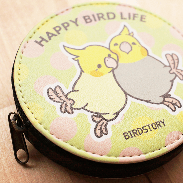 コインケース(HAPPY BIRD LIFE / オカメインコ) 商品の様子