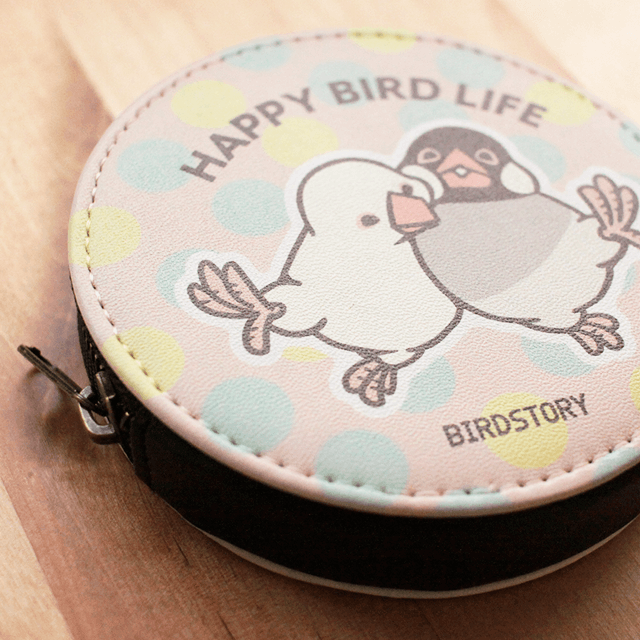 コインケース(HAPPY BIRD LIFE / 文鳥) 商品の様子