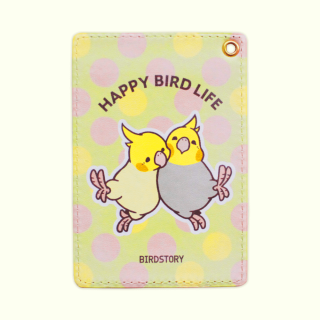 パスケース(HAPPY BIRD LIFE / オカメインコ)