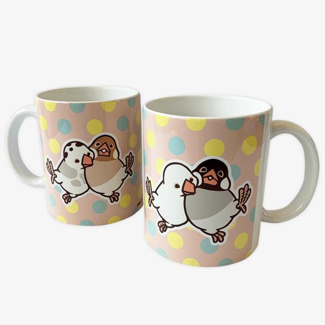 マグカップ(HAPPY BIRD LIFE / 文鳥)