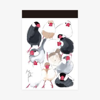 メモ帳(文鳥)