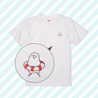 刺繍Tシャツ(ことり×うきわ / マメルリハ)