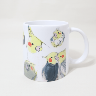マグカップ(オクムラミチヨ / いろいろオカメインコ)