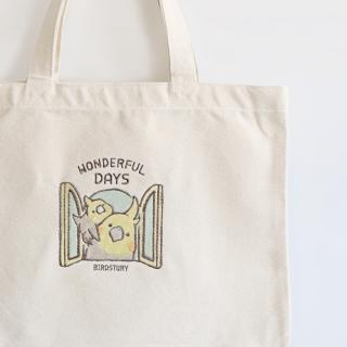 刺繍トートバッグ(WONDERFUL DAYS / オカメインコ / ノーマル)