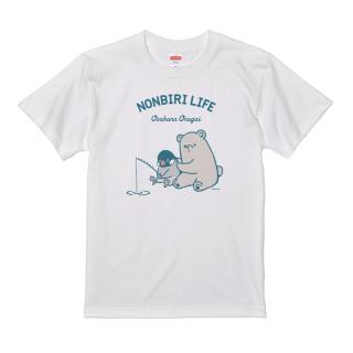 Tシャツ(NONBIRI LIFE / おさかなおねがい / 文鳥)