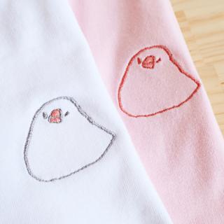 刺繍Tシャツ(amycco. / もっちり文鳥 / ウインク)