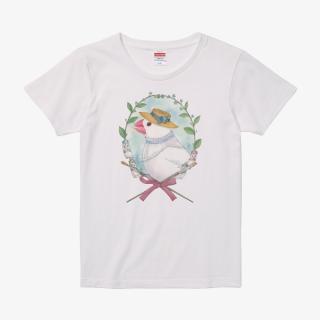 Tシャツ(文鳥院まめぞう / 画家マル・ブン・マルッチーニの肖像)