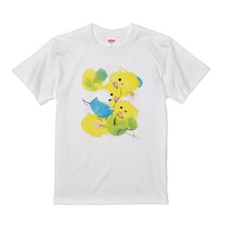 Tシャツ(オクムラミチヨ / イエローセキセイインコズ)