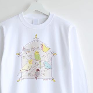 長袖Tシャツ(GREEN BIRD )