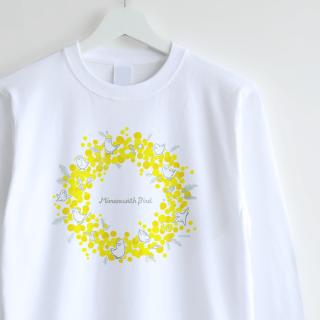 長袖Tシャツ(Mimosa with Bird / リース)