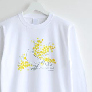 長袖Tシャツ(Mimosa with Bird / カナリア)