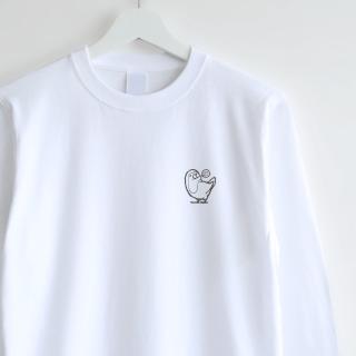 長袖刺繍Tシャツ(キャンディ / コザクラインコ)