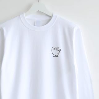 長袖刺繍Tシャツ(キャンディ / 文鳥)
