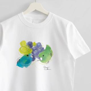 Tシャツ(オクムラミチヨ / サザナミインコさんとぶどう)