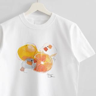 Tシャツ(オクムラミチヨ / キンカチョウさんとみかん)
