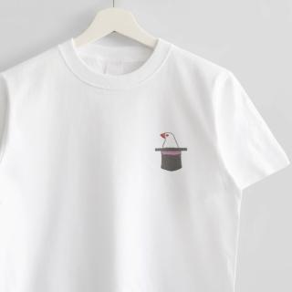刺繍Tシャツ(文鳥院まめぞう / ブンマジック)