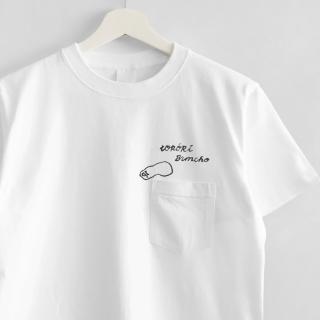 刺繍Tシャツ(torinotorio / トロ—リ文鳥 / ネガエリー)