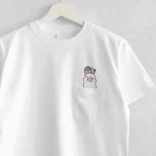 刺繍Tシャツ(WONDERFUL DAYS / 文鳥)