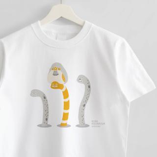 Tシャツ(BIRDAQUARIUM / キンカチョウ&ニシキアナゴ&チンアナゴ)