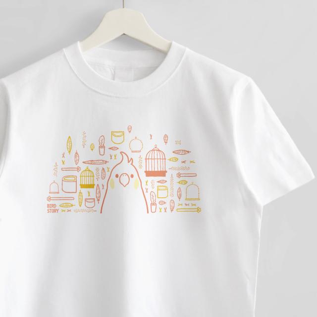 Tシャツ(SMILE BIRD DAYS / オカメインコ)