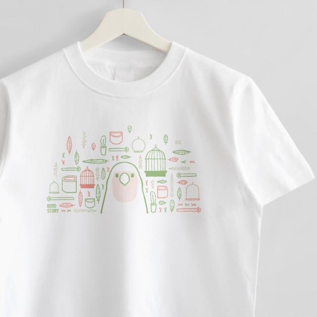 Tシャツ(SMILE BIRD DAYS / コザクラインコ)