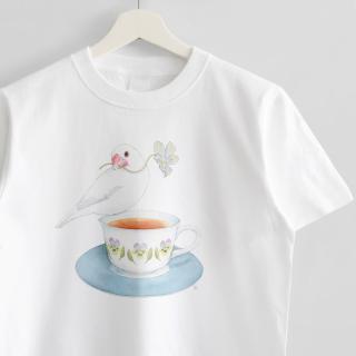 Tシャツ(文鳥院まめぞう / 日々の小さなやすらぎ)