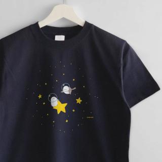 Tシャツ(UCHU NI MUCHU / シマエナガ)