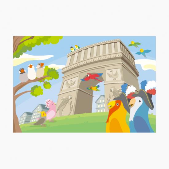 鳥と世界 -フランス編- ポストカード